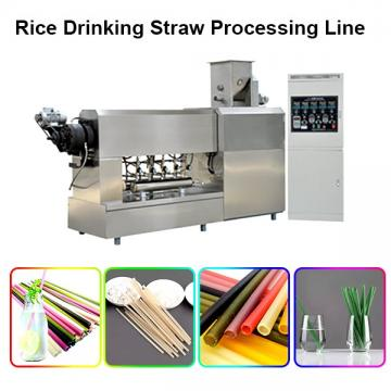 Customized Colourful Eco edible Rice Drinking Straw pasta machine Production Line