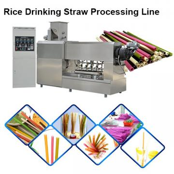 Automatic Eco Friendly Materials Edible Drink Red Biodegradable Straw Machine Extruder Production Line